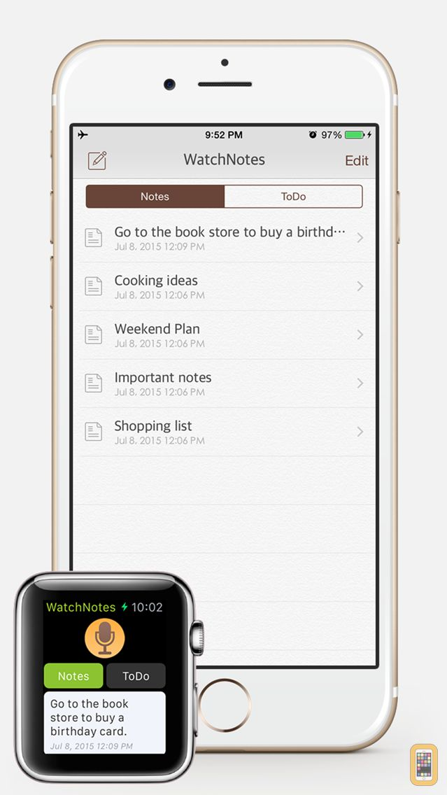 Screenshot - WatchNotes - Notes/Memo/Todo/Checklist for Apple Watch