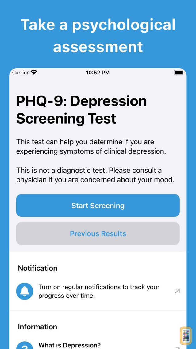 Screenshot - Depression Test   PHQ-9