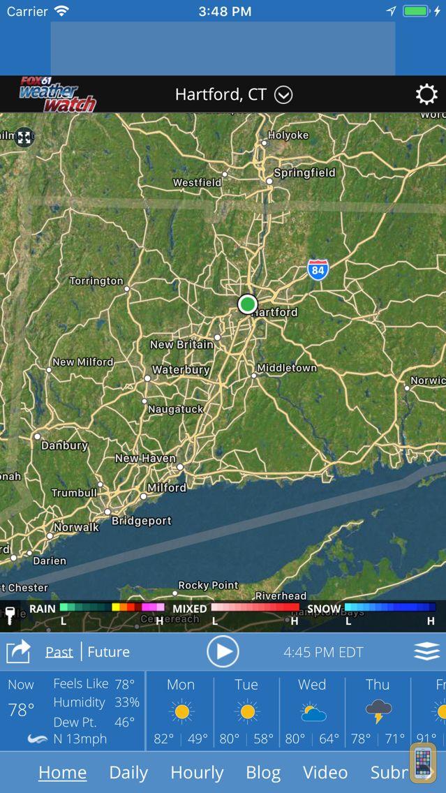 Screenshot - Fox61 Weather Watch