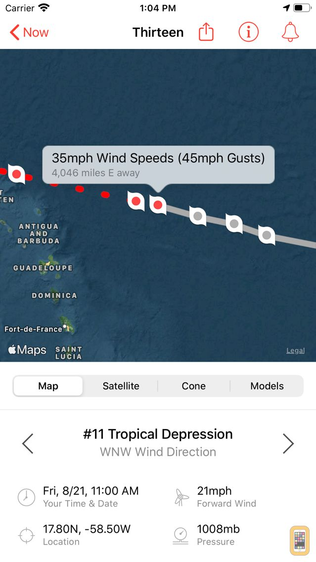 Screenshot - My Hurricane Tracker Pro