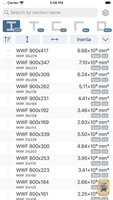 Screenshot - Cross Section Engineering Data