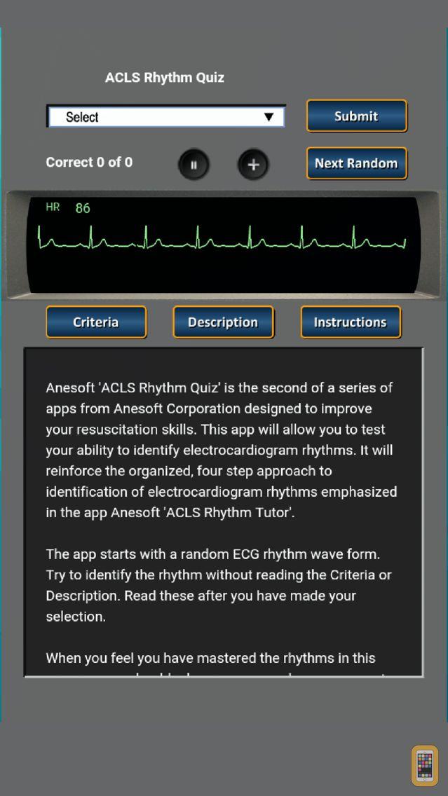 Screenshot - ACLS Rhythm Quiz