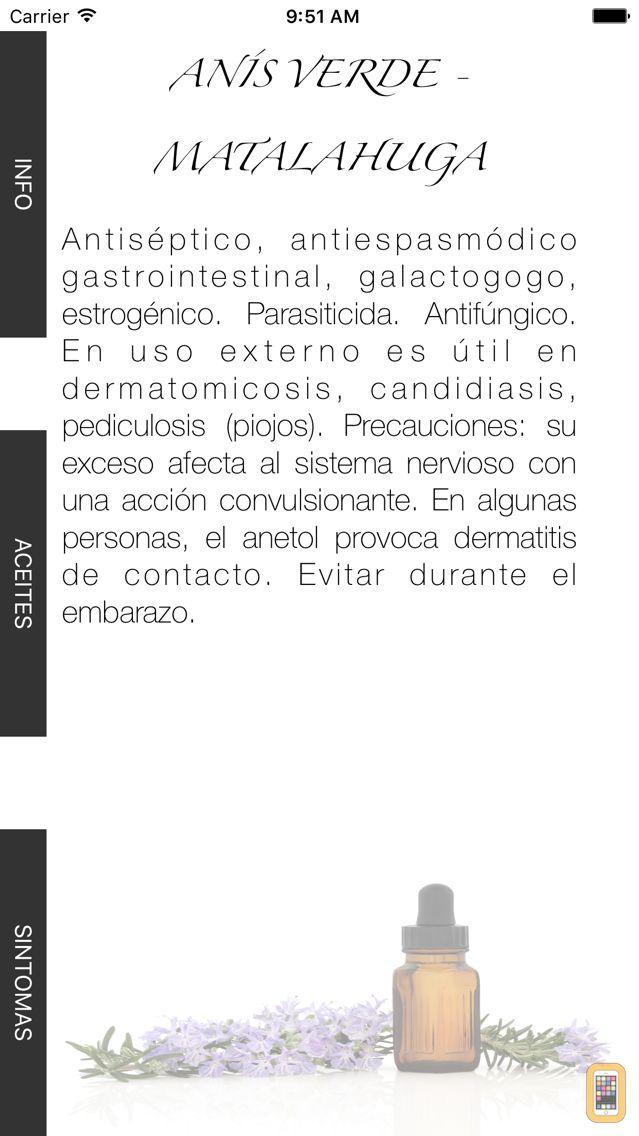 Screenshot - Aceites Esenciales - Aromaterapia