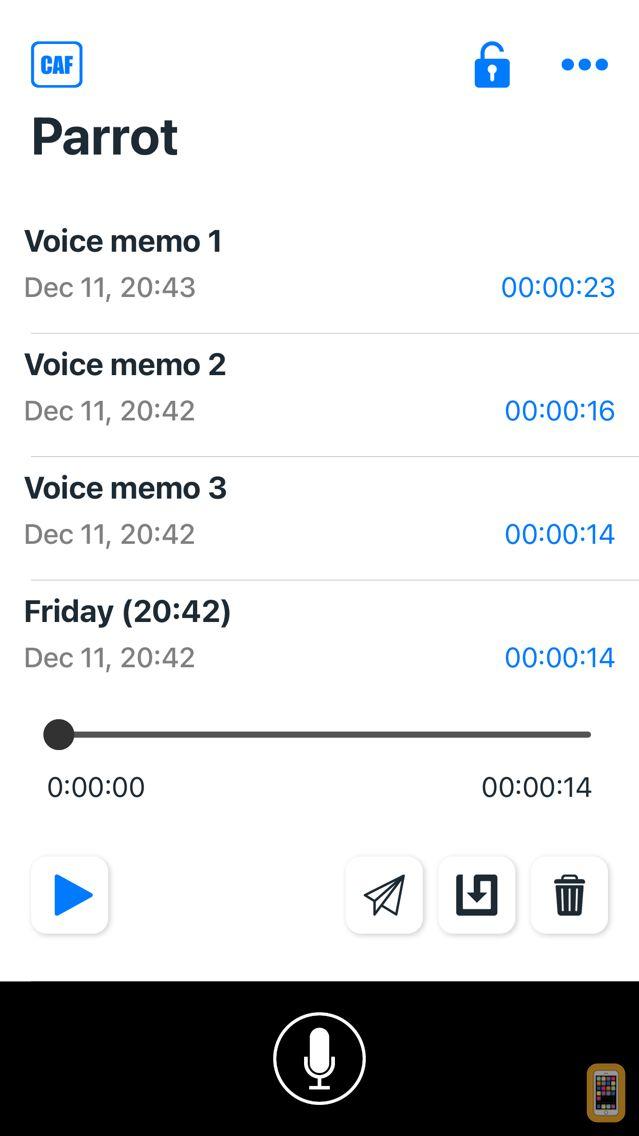 Screenshot - PARROT Audio recorder
