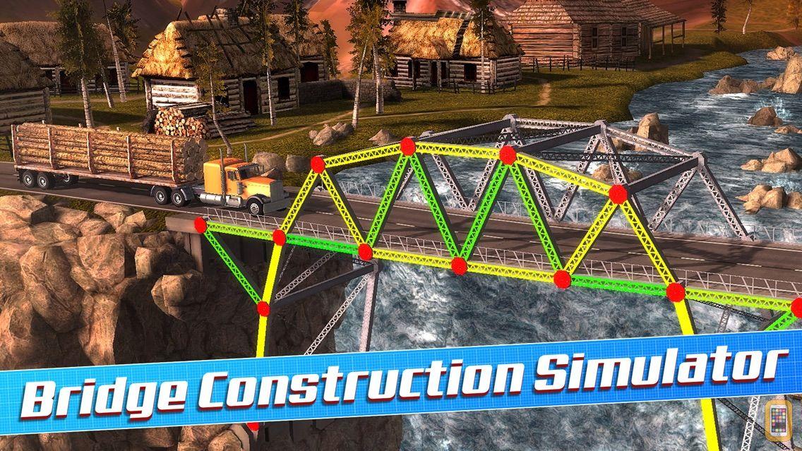 Screenshot - Bridge Construction Simulator 3D a Real City Building Physics Sim