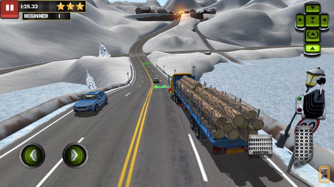 Screenshot - Ice Road Trucker Parking Simulator 2 a Real Monster Truck Car Park Racing Game
