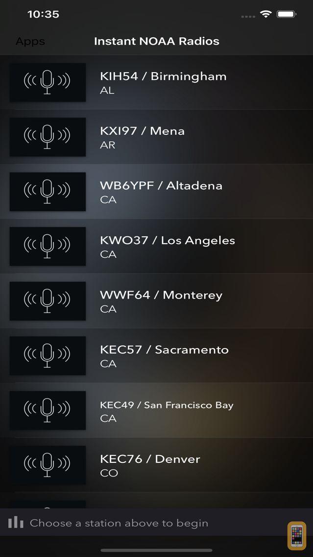 Screenshot - Instant NOAA Radios Elite