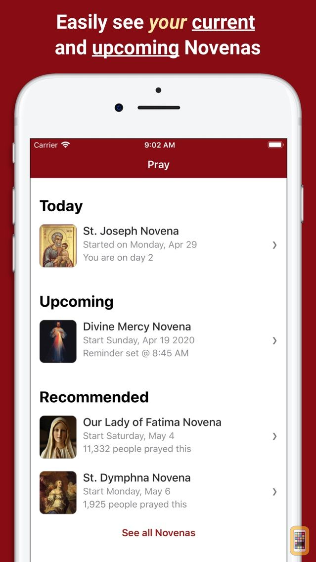 Screenshot - Pray Catholic Novena Prayers