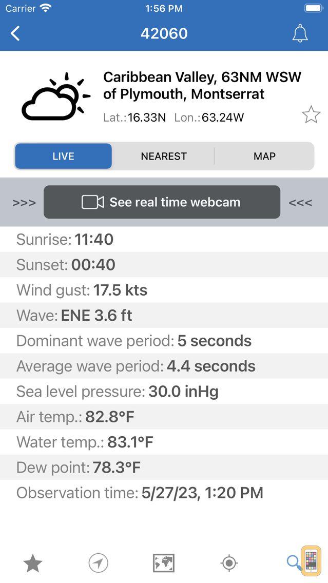 Screenshot - NOAA Buoys Marine Weather PRO