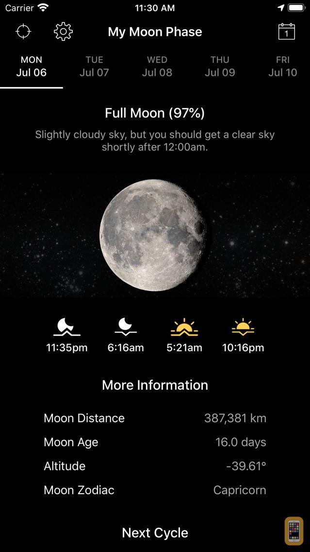 Screenshot - My Moon Phase - Lunar Calendar