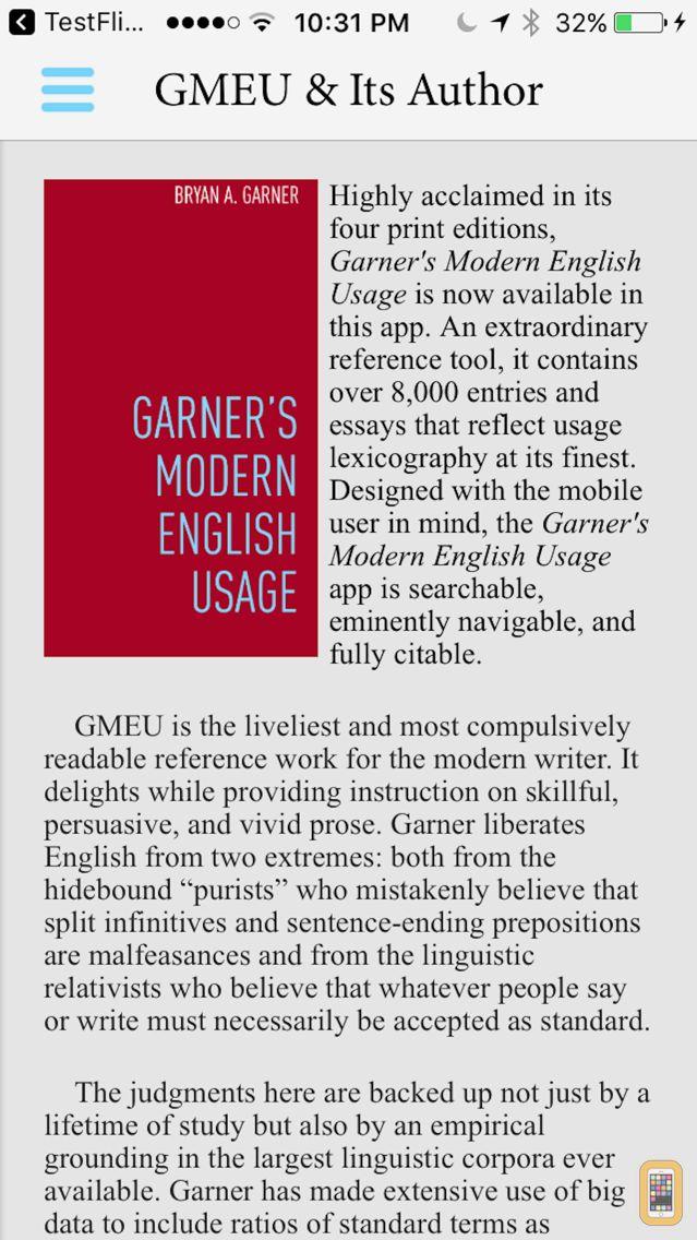 Screenshot - Garner's Modern English Usage