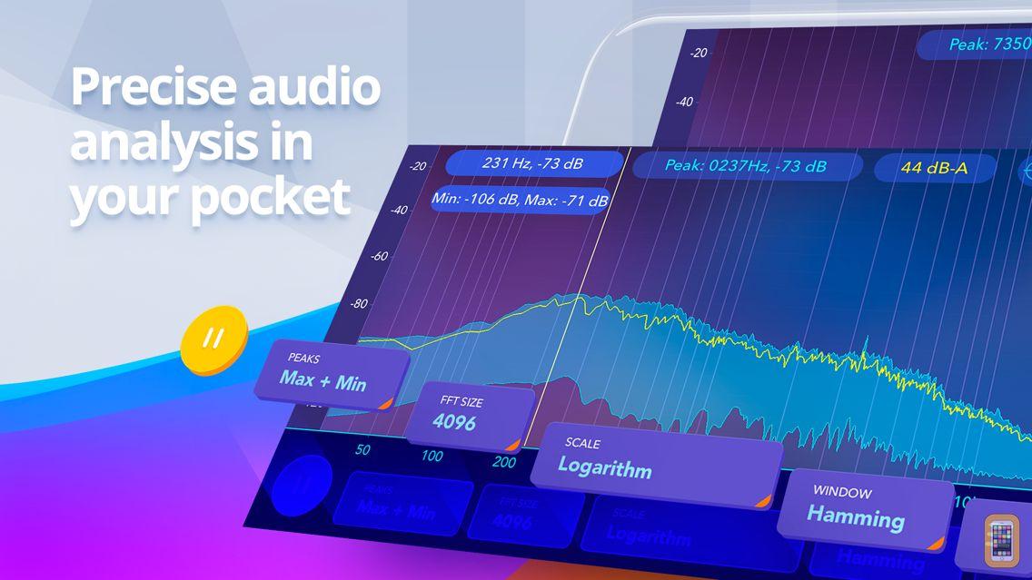 Screenshot - Audio spectrum analyzer EQ Rta