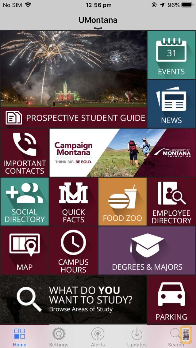 Screenshot - University of Montana