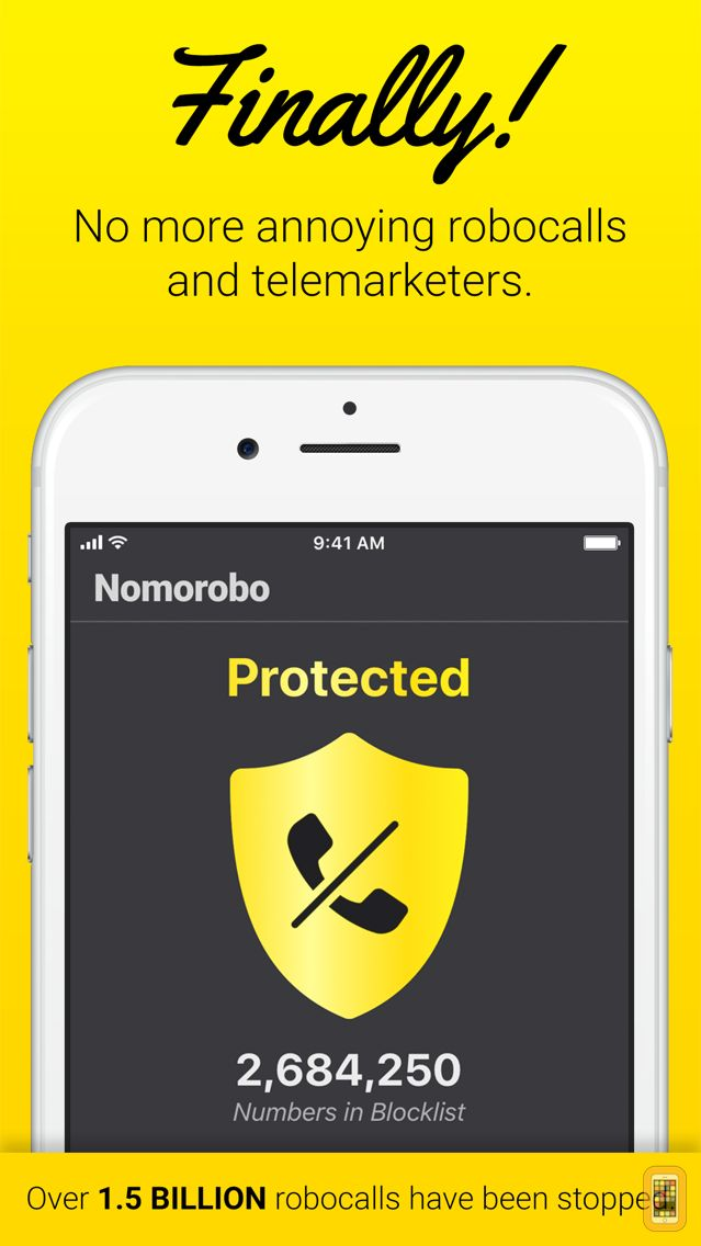Screenshot - Nomorobo Robocall Blocking