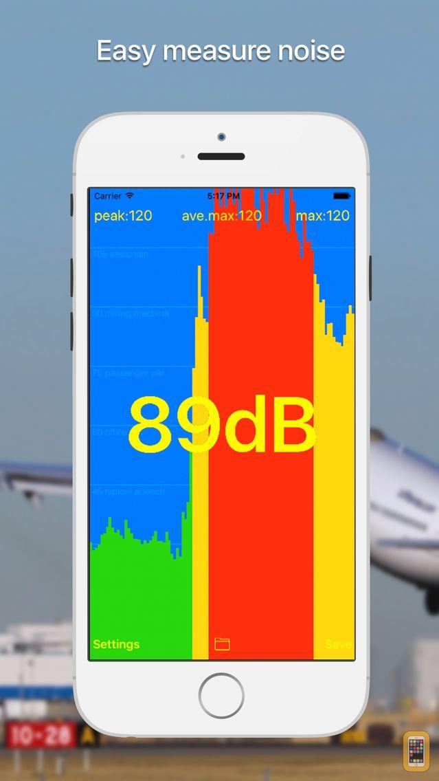 Screenshot - dB meter - noise measure