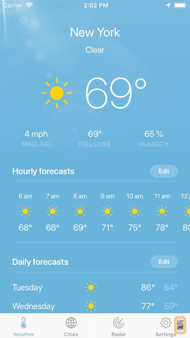 Screenshot - Weather ·