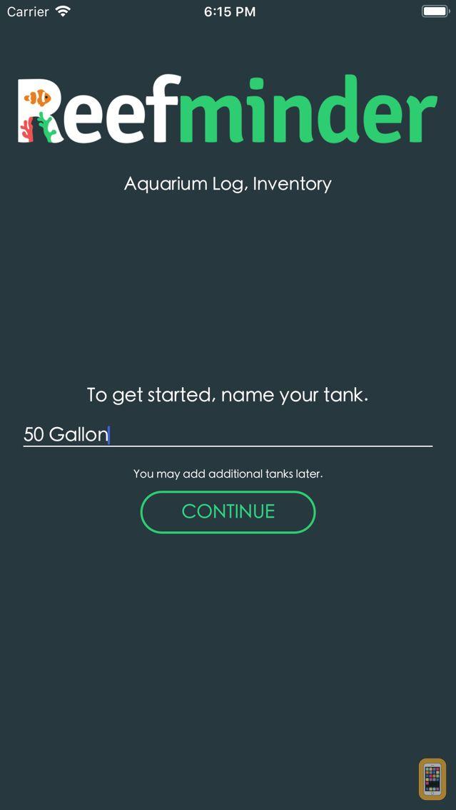 Screenshot - Reefminder Fish Log