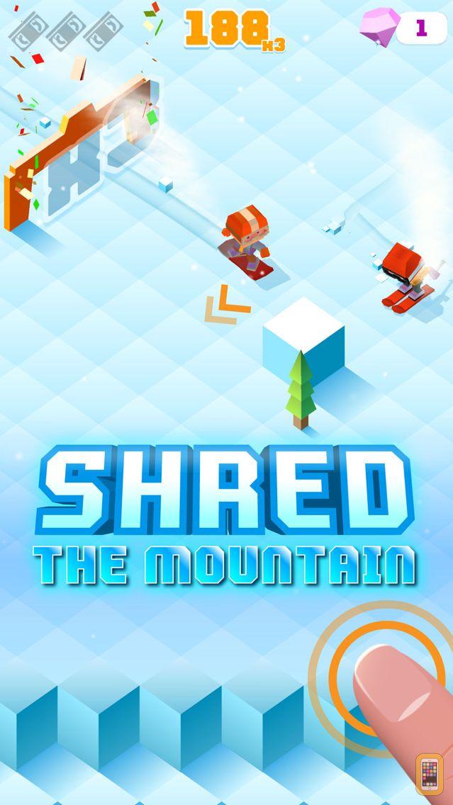 Screenshot - Blocky Snowboarding - Endless Arcade Runner