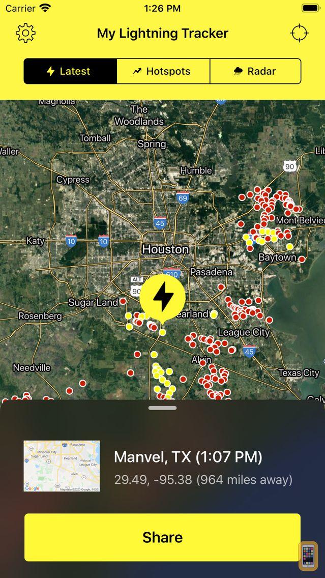 Screenshot - My Lightning Tracker & Alerts
