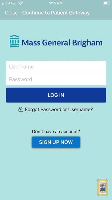 Screenshot - Patient Gateway