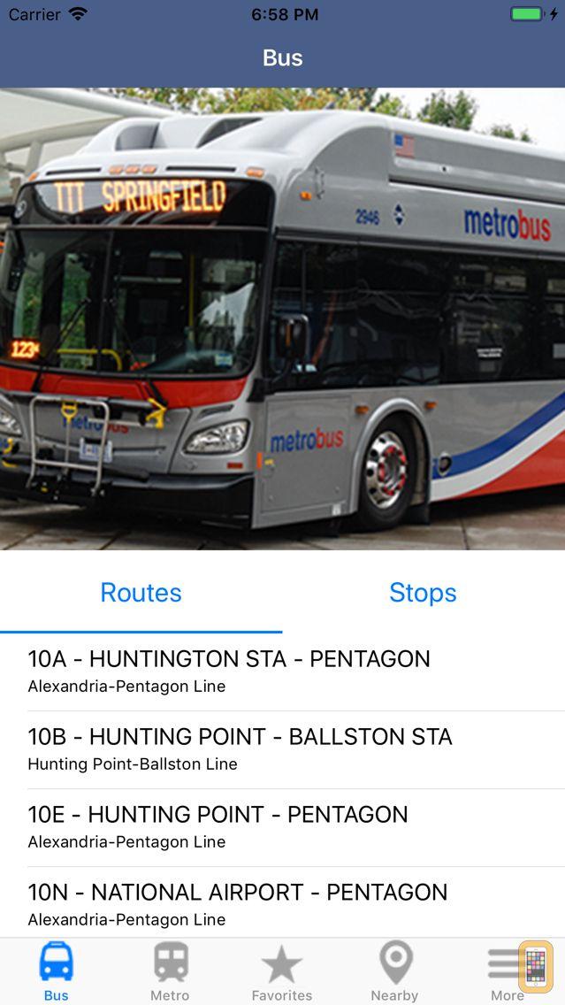 Screenshot - DC Metro & Bus: Navigator Map