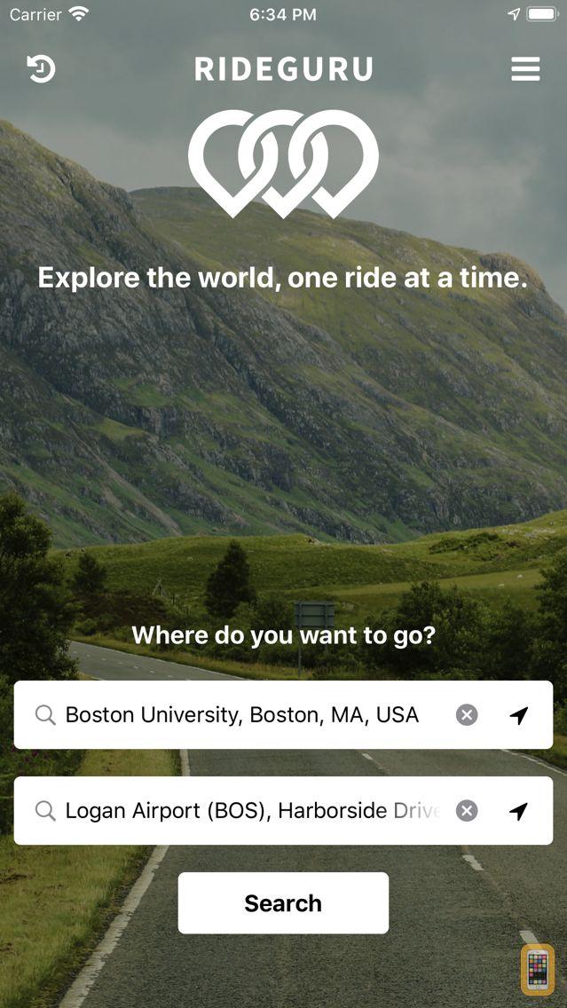 Screenshot - RideGuru - Compare Rideshares, taxis, and limos