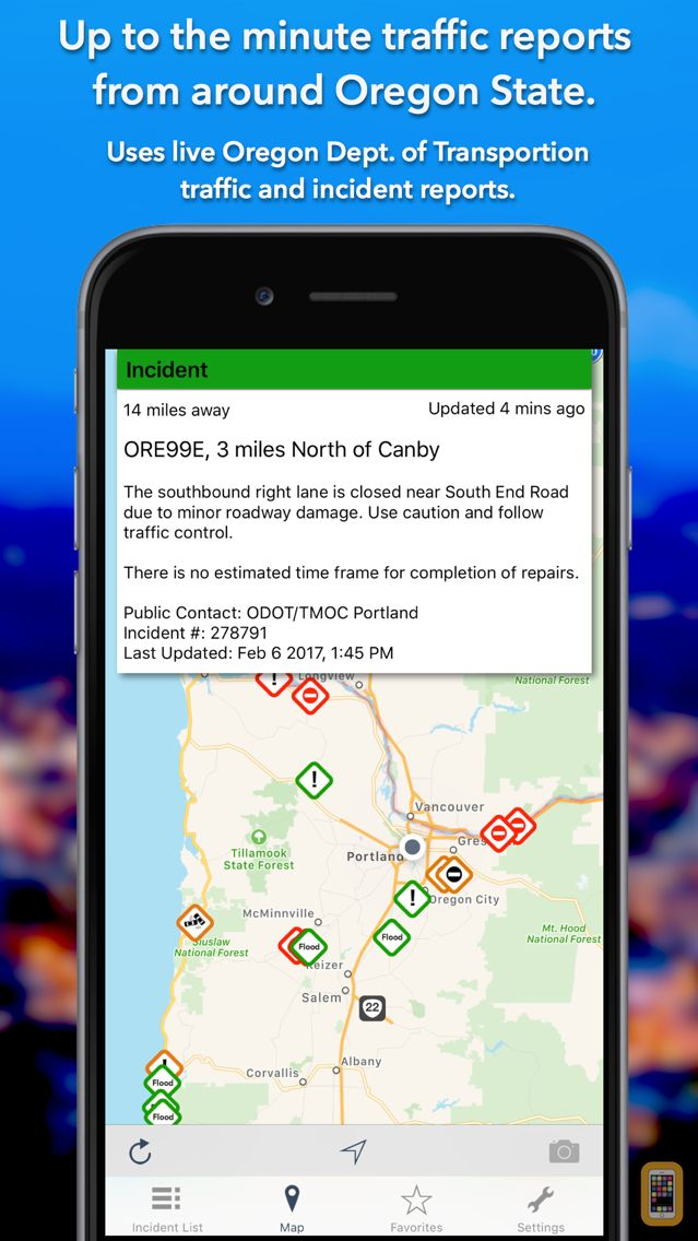 Screenshot - Oregon Roads Traffic