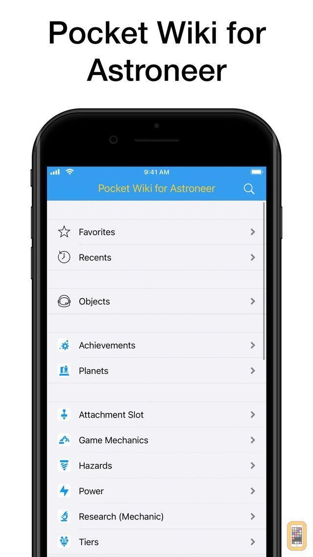 Screenshot - Pocket Wiki for Astroneer