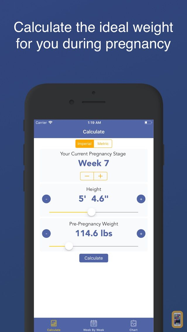 Screenshot - Pregnancy BMI : Weight Tracker