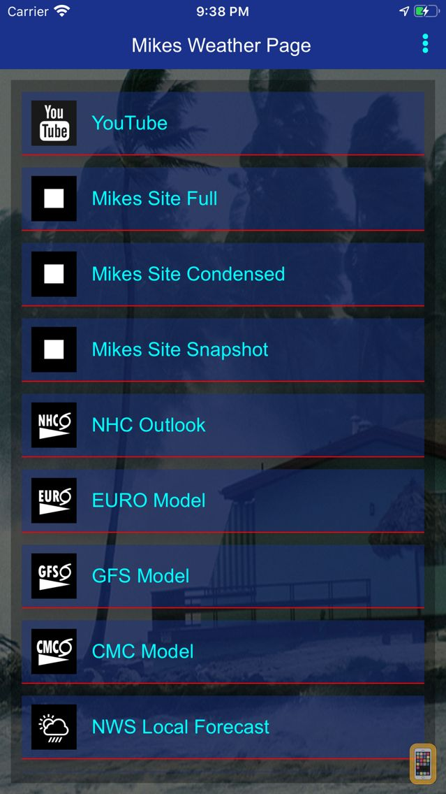 Screenshot - Mike's Weather Page