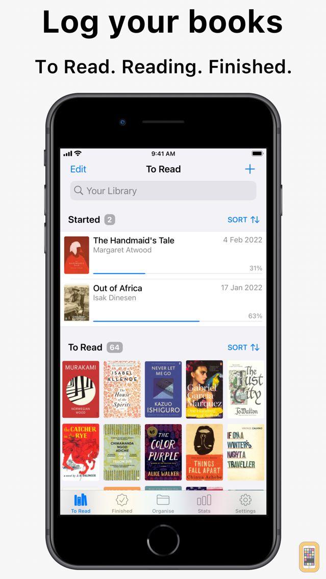 Screenshot - Reading List - Book Log
