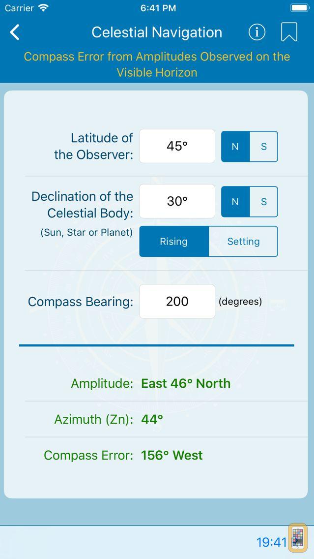 Screenshot - Nautical Calculator