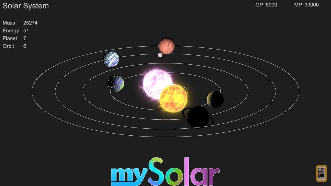 Screenshot - mySolar - Build your Planets