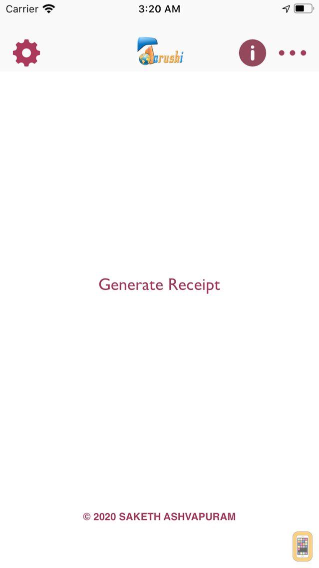 Screenshot - Make a Receipt