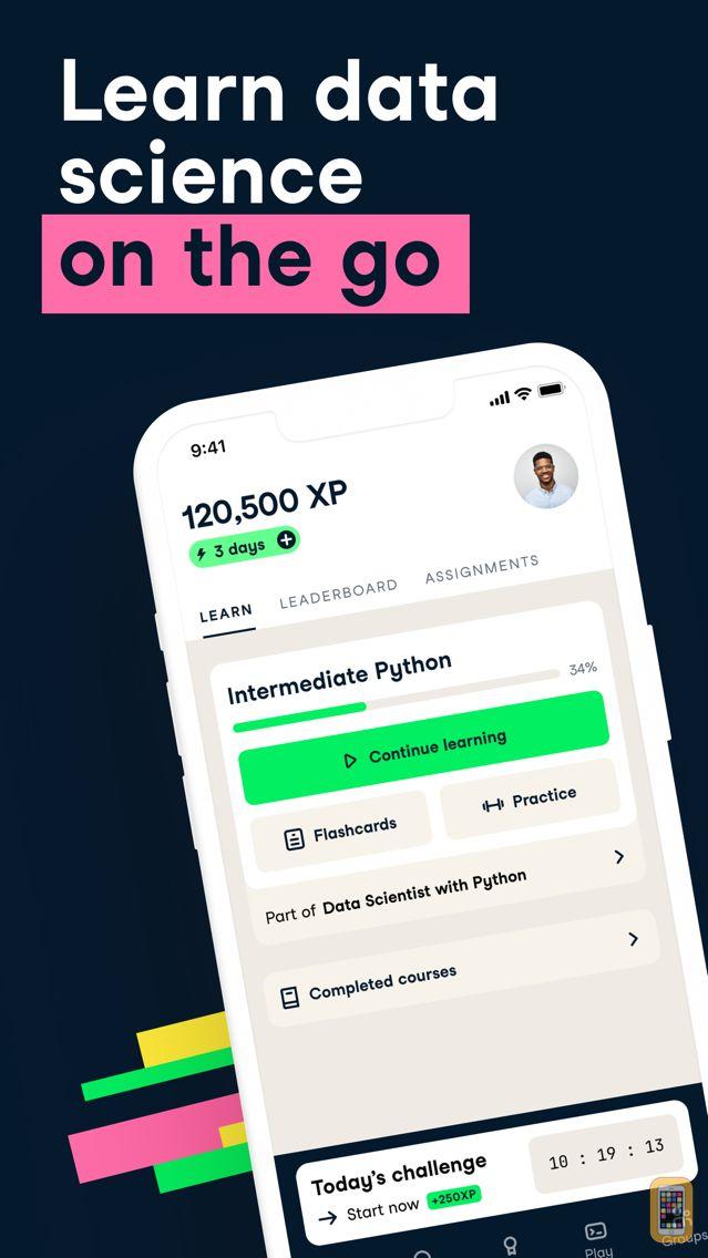 Screenshot - DataCamp: Learn Data Science