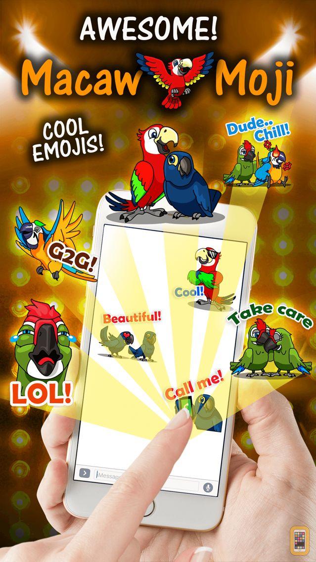 Screenshot - MacawMoji - Parrot Emojis