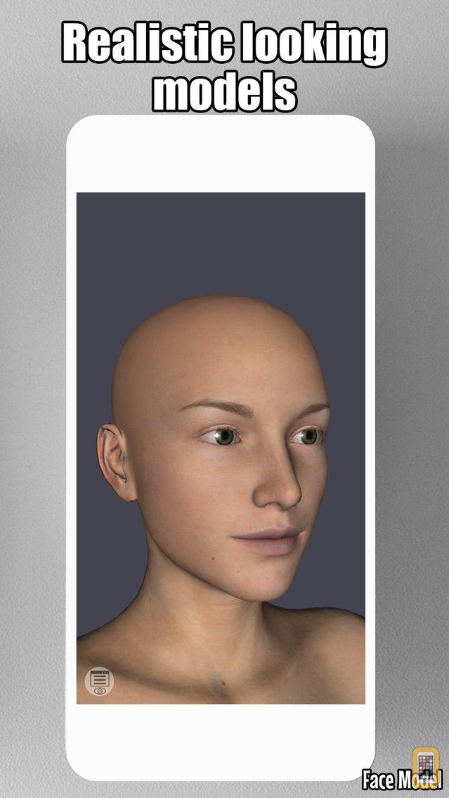 Screenshot - Face Model -posable human head