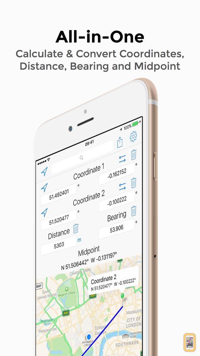 Screenshot - Coordinates Calculator Pro