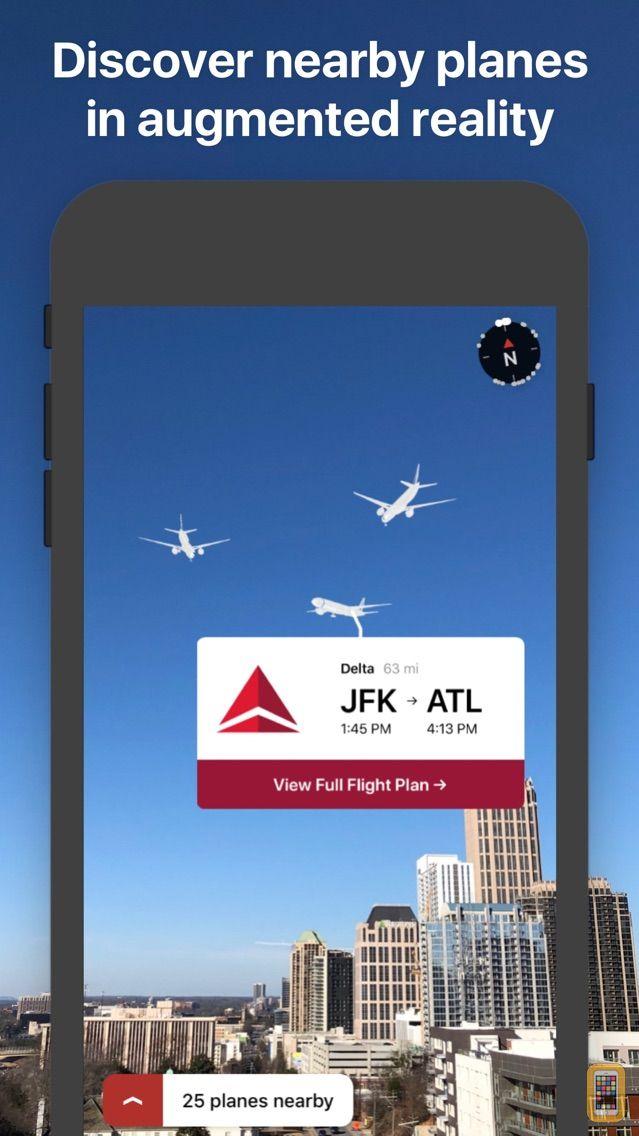 Screenshot - AR Planes - flight tracker