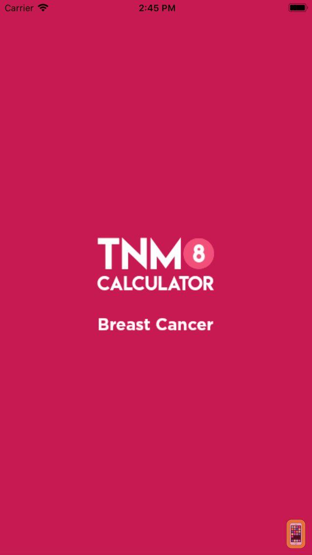 Screenshot - TNM8 Breast Cancer Calculator