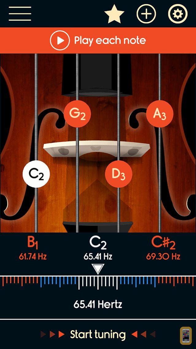 Screenshot - Violoncello Tuner