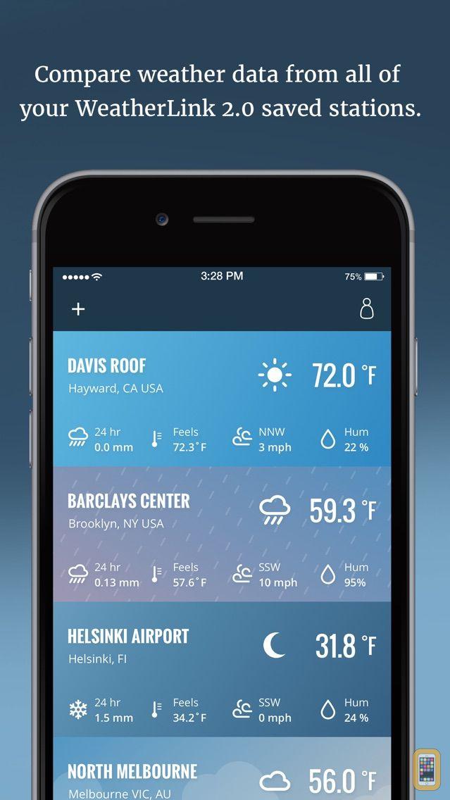 Screenshot - WeatherLink