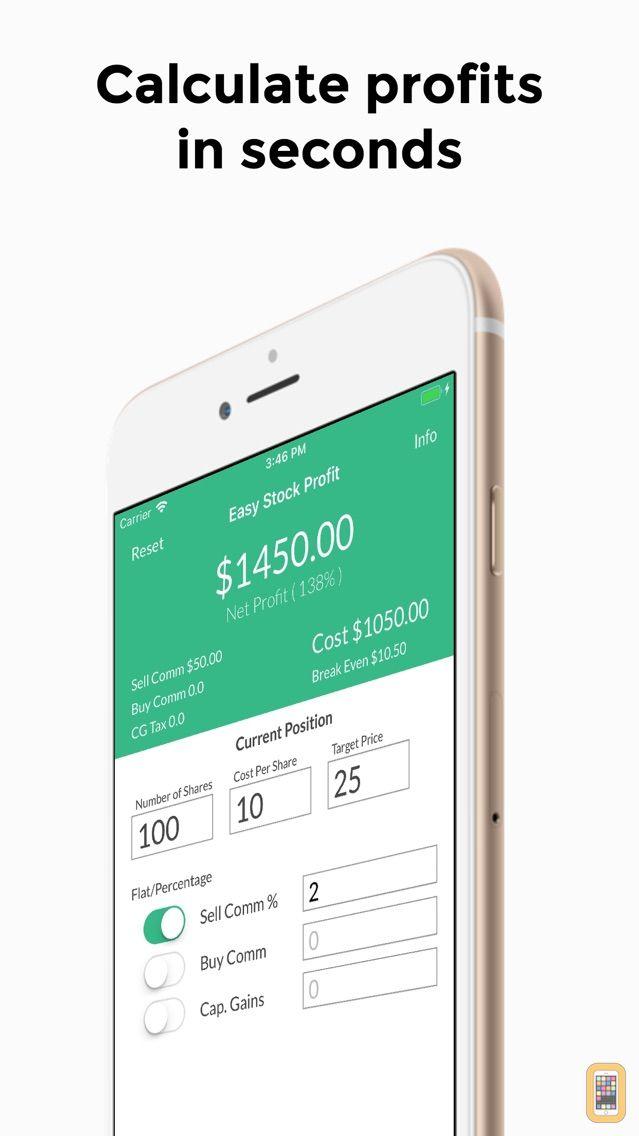 Screenshot - Easy Stock Profit Calculator