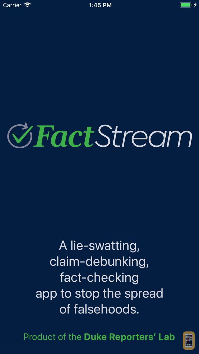 Screenshot - FactStream