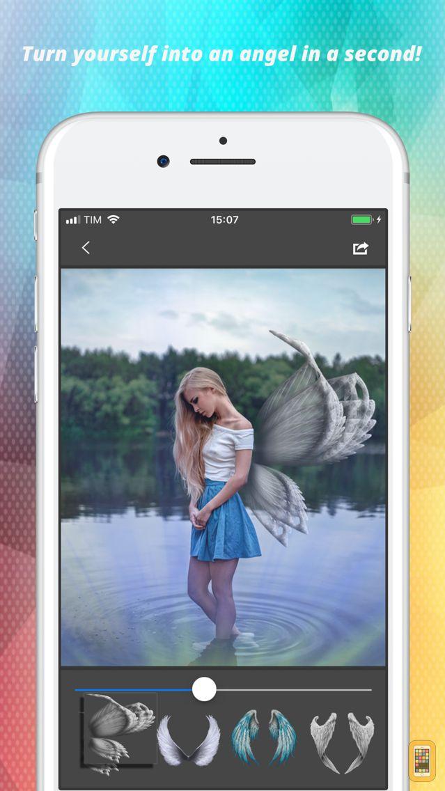 Screenshot - Light Wings Effect - Montage