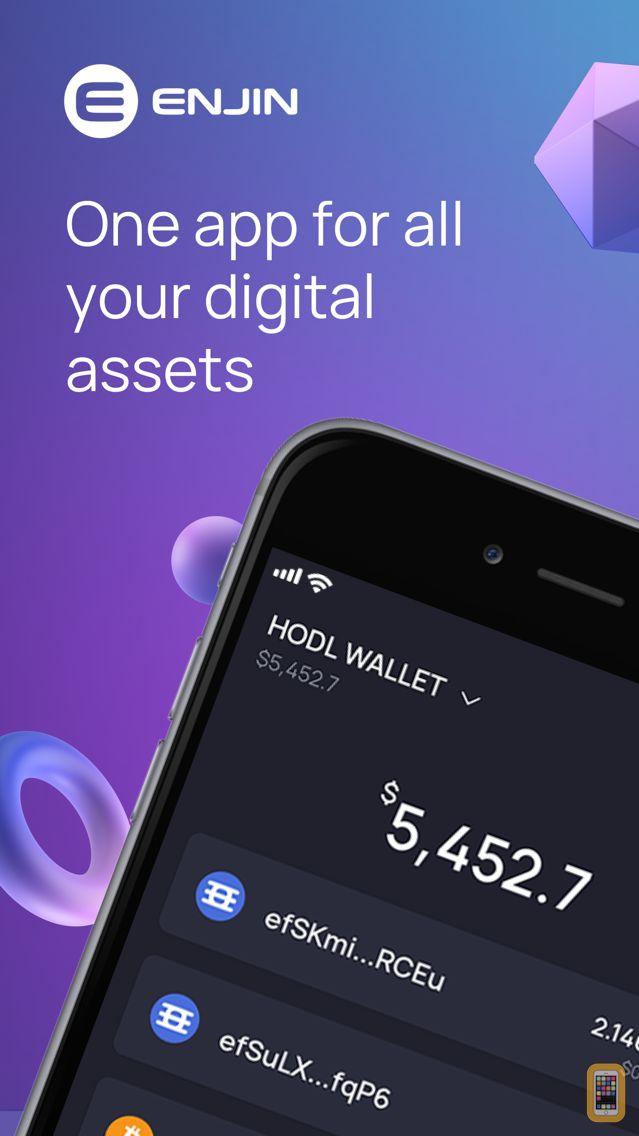 Screenshot - Enjin Cryptocurrency Wallet