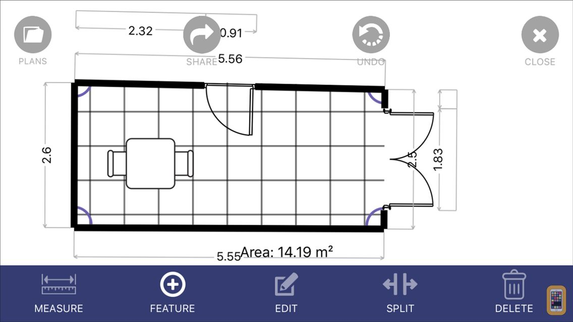 Screenshot - Floor Plan App