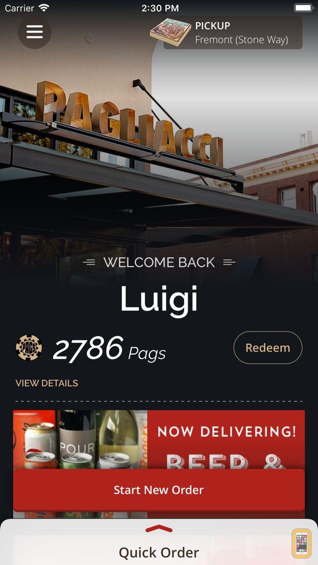 Screenshot - Pagliacci Pizza