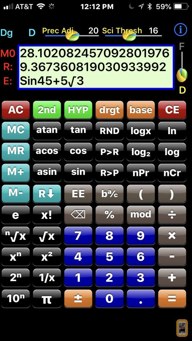 Scientific Calculator DES-38D for iPhone & iPad - App Info