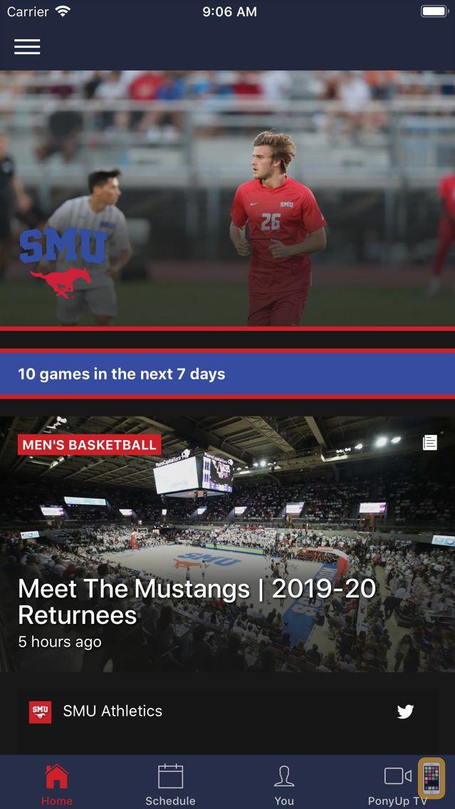 Screenshot - SMU Athletics